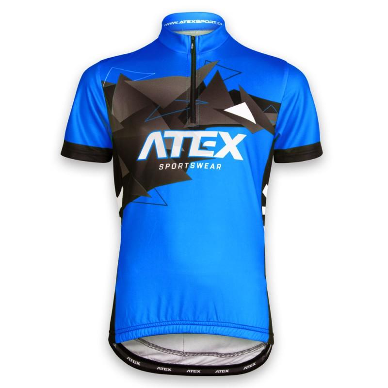 3e7fc082506 Cyklistický dres MIKA dětský modrý