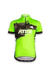 6eea1e4e38b Cyklistický dres MIKA dětský zelený